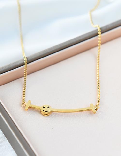 Collar Irregular Smiley De Acero Inoxidable