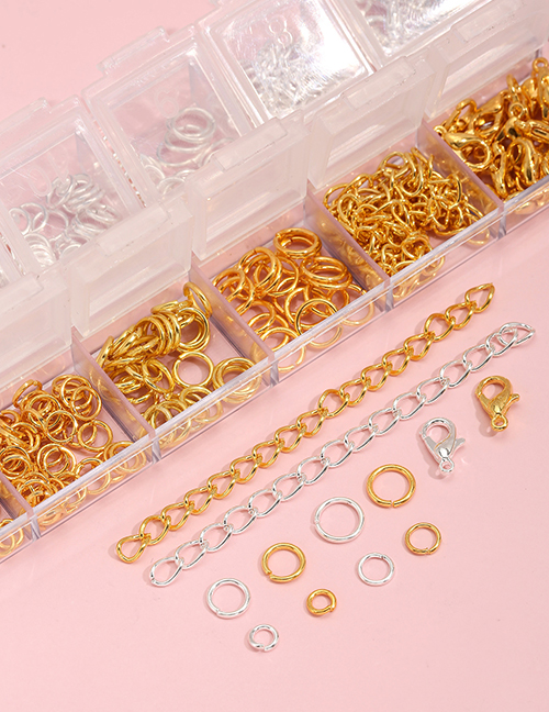 Paquete De Material Geométrico Bicolor Dorado Y Plateado De Doce Rejillas