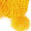 Trendy Yellow Ears Shape Design Knitting Cap