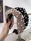 Fashion Black Cloth Beaded Knotted Wide-brimmed Headband