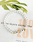 Fashion Gold Alloy Resin Letter Bracelet Set