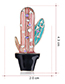 Fashion Red Alloy Drip Cactus Brooch