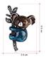 Fashion Black Alloy Drip Koala Brooch