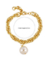 Fashion White Heavy Chain Alloy Irregular Pearl Necklace