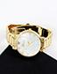 Fashion Silver Color Round Dial Design Pure Color Watch
