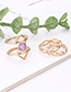 Fashion Gold Color Hollow Out Design Simple Ring(7pcs)