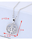Elegant Silver Color Tree Pendant Decorated Long Necklace