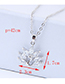 Elegant Silver Color Peacock Pendant Decorated Long Necklace