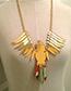 Fashion Green Bird Shape Decorated Necklace