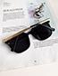 Fashion Gray Resin Alloy Sunglasses