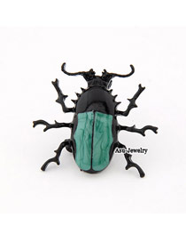 Energie Blackish Green Beatles Alloy Korean Brooches