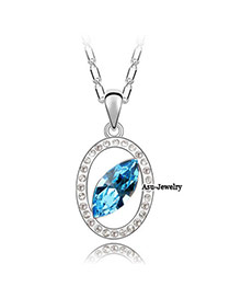 Foldable sea Blue Deepp Sea Star Crystal Crystal Necklaces