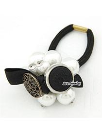Natural White Elegant Fashion Bow Tie Alloy Hair clip hair claw