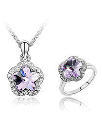 Scrapbooki violet Set-Plum Blossom Alloy Crystal Sets