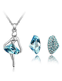 Named Blue Set-Dancing Queen Alloy Crystal Sets
