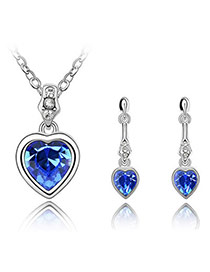 Mint Blue Set-Treasuring Love Alloy Crystal Sets