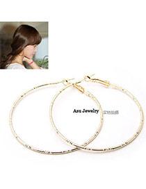 Down Gold Color Sample Design Alloy Stud Earrings