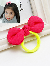 Sweet Plum Red Bowknot Decorated Simple Hair Band