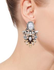 Aretes De Turquesa Decorados Con Diamantes