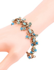 Pulsera Decorada Con Diamantes Y Gemas