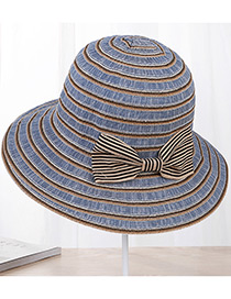 Sombrero A Rayas Con Moño De Moda