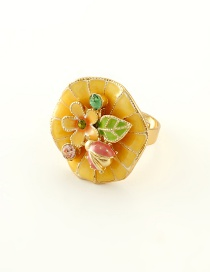 Anillo Decorado Con Flor Brillante