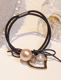 Bespoke Black Circle Cotton Hair band hair hoop