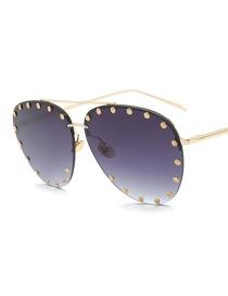 Gafas De Sol Decorada Con Remaches De Moda