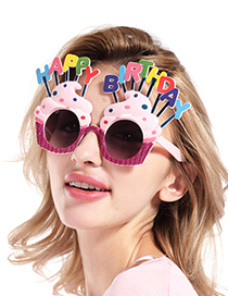 Gafas Divertida De Helado Con Letras De Happy Birthday