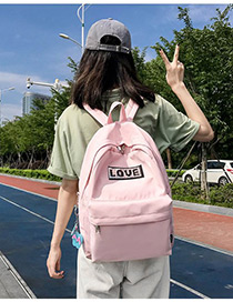 Lovely Pink Love Pattern Decorated Backpack