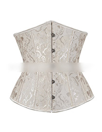 Sexy Apricot Flowers Pattern Design Strapless Corset
