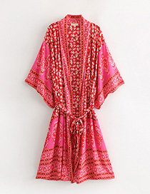 Kimono Estampado De Flores