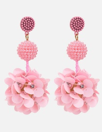 Aretes De Flor Con Perlas De Moda