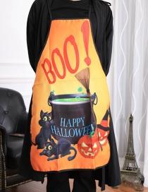 Halloween Delantal De Gato