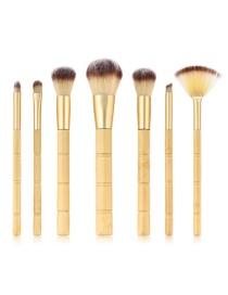 Juego De Brochas De Maquillaje De Bambú 7 Pcs