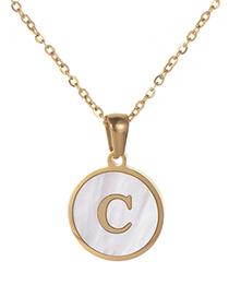 Fashion Gold Color Letter C Shape Decorated Necklace