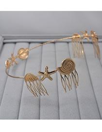 Fashion Gold Color Shell Shape Decorated Headband