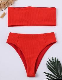 Bikini De Color Puro De Moda