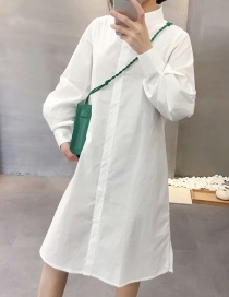Vestido Camisero Manga Linterna