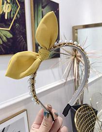Fashion Yellow Diamond Banded Hairline Headband