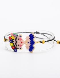 Fashion Blue Cartoon Woven Jewelry Bracelet