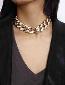 Collar De Cadena Geométrica De Metal