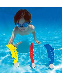 Tres Juegos De Ni?os Buceando Delfines Natación Submarina Boyas De Buceo