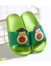 Pantuflas De Fondo Suave Color Fruta Animal Contraste