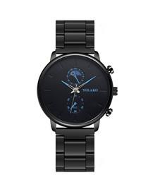 Reloj De Cuarzo Con Banda De Acero De Aleación Ultrafina