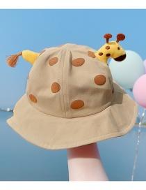 Sombrero De Pescador Con Protector Solar Para Niños Con Borla De Jirafa