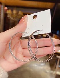 Aretes De Metal Redondo Geométrico