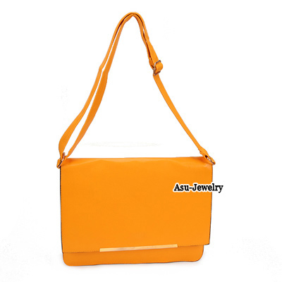 Light Yellow Minimal Design PU Handbags