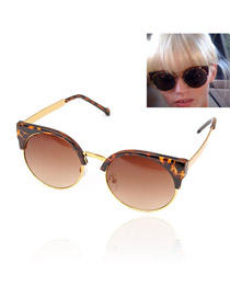 Lucky With Leopard Frame Fashion Half Frame Design