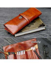 Colorful Brown Simple Retro Design